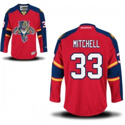 Authentic Reebok Adult Willie Mitchell Home Jersey - NHL 33 Florida Panthers