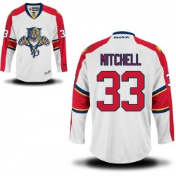 Authentic Reebok Adult Willie Mitchell Away Jersey - NHL 33 Florida Panthers