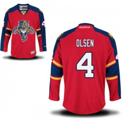Authentic Reebok Adult Dylan Olsen Home Jersey - NHL 4 Florida Panthers