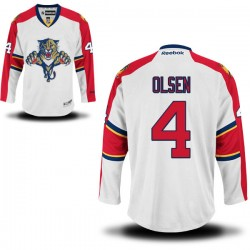 Authentic Reebok Adult Dylan Olsen Away Jersey - NHL 4 Florida Panthers