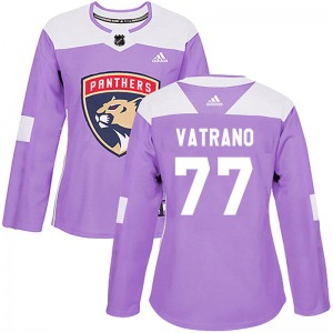 Authentic Adidas Women's Frank Vatrano Purple Fights Cancer Practice Jersey - NHL Florida Panthers