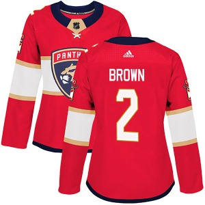 Authentic Adidas Women's Josh Brown Red Home Jersey - NHL Florida Panthers