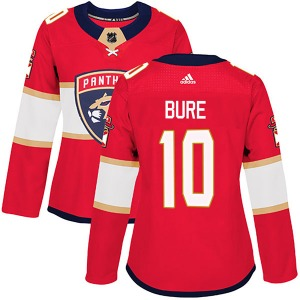 Authentic Adidas Women's Pavel Bure Red Home Jersey - NHL Florida Panthers