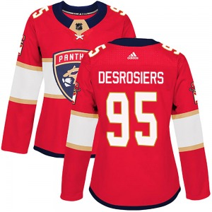 Authentic Adidas Women's Philippe Desrosiers Red Home Jersey - NHL Florida Panthers