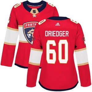 Authentic Adidas Women's Chris Driedger Red Home Jersey - NHL Florida Panthers