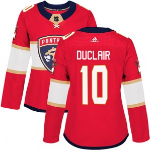 Authentic Adidas Women's Anthony Duclair Red Home Jersey - NHL Florida Panthers