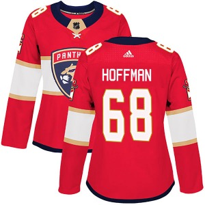 Authentic Adidas Women's Mike Hoffman Red Home Jersey - NHL Florida Panthers