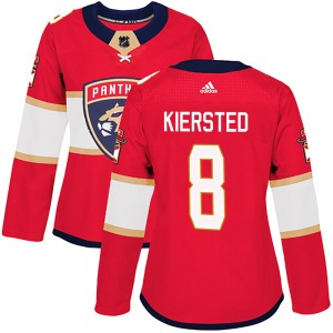 Authentic Adidas Women's Matt Kiersted Red Home Jersey - NHL Florida Panthers