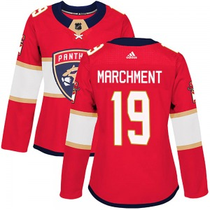 Authentic Adidas Women's Mason Marchment Red Home Jersey - NHL Florida Panthers