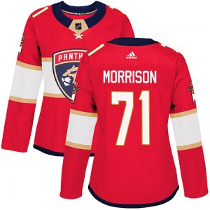 Authentic Adidas Women's Brad Morrison Red Home Jersey - NHL Florida Panthers