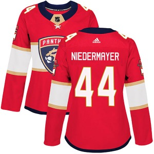 Authentic Adidas Women's Rob Niedermayer Red Home Jersey - NHL Florida Panthers