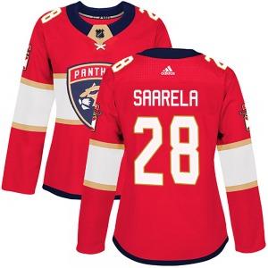 Authentic Adidas Women's Aleksi Saarela Red ized Home Jersey - NHL Florida Panthers