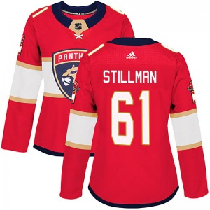 Authentic Adidas Women's Riley Stillman Red Home Jersey - NHL Florida Panthers