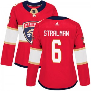 Authentic Adidas Women's Anton Stralman Red Home Jersey - NHL Florida Panthers