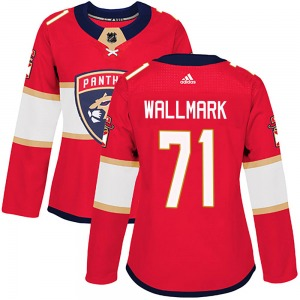 Authentic Adidas Women's Lucas Wallmark Red ized Home Jersey - NHL Florida Panthers