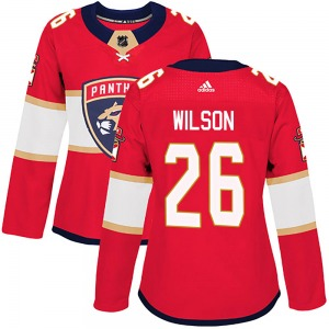 Authentic Adidas Women's Scott Wilson Red Home Jersey - NHL Florida Panthers