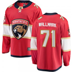 Breakaway Fanatics Branded Adult Lucas Wallmark Red ized Home Jersey - NHL Florida Panthers