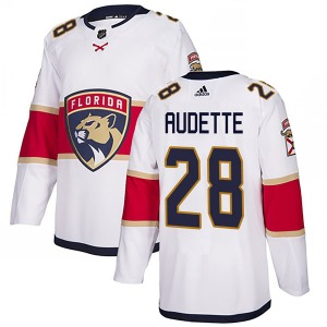 Authentic Adidas Youth Donald Audette White Away Jersey - NHL Florida Panthers
