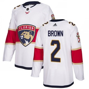 Authentic Adidas Youth Josh Brown White Away Jersey - NHL Florida Panthers