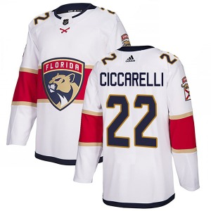 Authentic Adidas Youth Dino Ciccarelli White Away Jersey - NHL Florida Panthers
