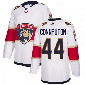 Authentic Adidas Youth Kevin Connauton White Away Jersey - NHL Florida Panthers