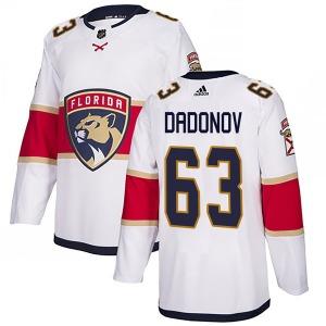 Authentic Adidas Youth Evgenii Dadonov White Away Jersey - NHL Florida Panthers