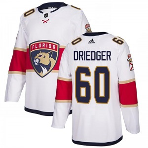 Authentic Adidas Youth Chris Driedger White Away Jersey - NHL Florida Panthers