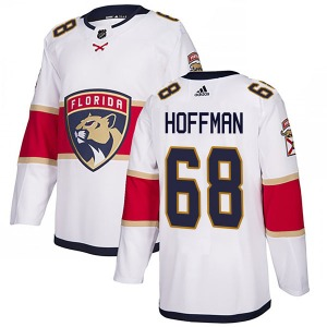 Authentic Adidas Youth Mike Hoffman White Away Jersey - NHL Florida Panthers