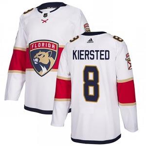 Authentic Adidas Youth Matt Kiersted White Away Jersey - NHL Florida Panthers