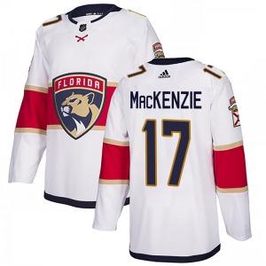 Authentic Adidas Youth Derek Mackenzie White Derek MacKenzie Away Jersey - NHL Florida Panthers