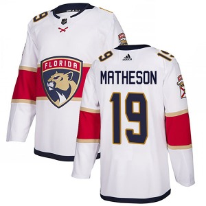 Authentic Adidas Youth Michael Matheson White Away Jersey - NHL Florida Panthers