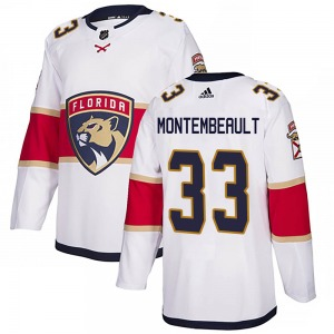 Authentic Adidas Youth Sam Montembeault White Away Jersey - NHL Florida Panthers