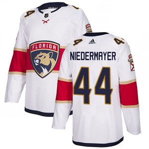 Authentic Adidas Youth Rob Niedermayer White Away Jersey - NHL Florida Panthers