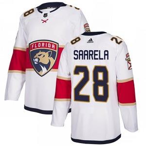 Authentic Adidas Youth Aleksi Saarela White ized Away Jersey - NHL Florida Panthers