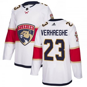 Authentic Adidas Youth Carter Verhaeghe White Away Jersey - NHL Florida Panthers