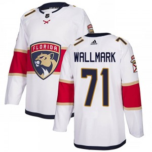 Authentic Adidas Youth Lucas Wallmark White ized Away Jersey - NHL Florida Panthers