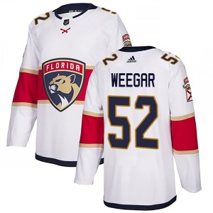 Authentic Adidas Youth MacKenzie Weegar White Away Jersey - NHL Florida Panthers
