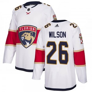 Authentic Adidas Youth Scott Wilson White Away Jersey - NHL Florida Panthers