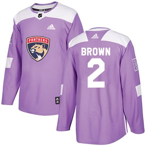 Authentic Adidas Youth Josh Brown Purple Fights Cancer Practice Jersey - NHL Florida Panthers