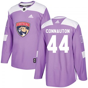 Authentic Adidas Youth Kevin Connauton Purple Fights Cancer Practice Jersey - NHL Florida Panthers