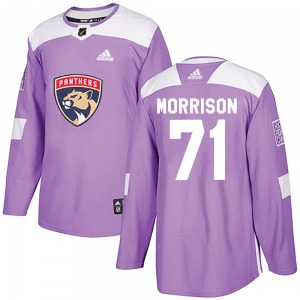 Authentic Adidas Youth Brad Morrison Purple Fights Cancer Practice Jersey - NHL Florida Panthers