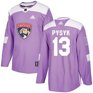 Authentic Adidas Youth Mark Pysyk Purple Fights Cancer Practice Jersey - NHL Florida Panthers