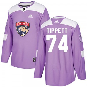 Authentic Adidas Youth Owen Tippett Purple ized Fights Cancer Practice Jersey - NHL Florida Panthers