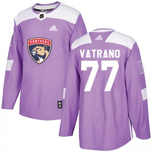 Authentic Adidas Youth Frank Vatrano Purple Fights Cancer Practice Jersey - NHL Florida Panthers