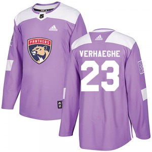 Authentic Adidas Youth Carter Verhaeghe Purple Fights Cancer Practice Jersey - NHL Florida Panthers