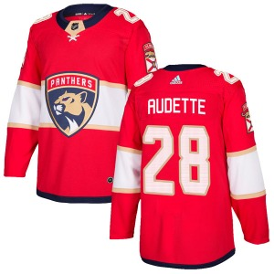 Authentic Adidas Youth Donald Audette Red Home Jersey - NHL Florida Panthers