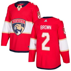 Authentic Adidas Youth Josh Brown Red Home Jersey - NHL Florida Panthers