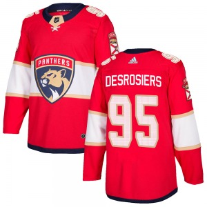 Authentic Adidas Youth Philippe Desrosiers Red Home Jersey - NHL Florida Panthers