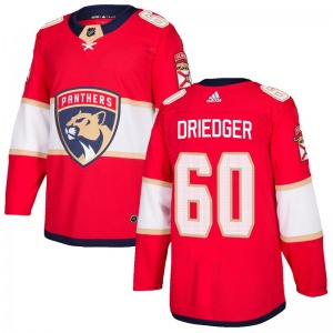 Authentic Adidas Youth Chris Driedger Red Home Jersey - NHL Florida Panthers