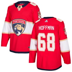 Authentic Adidas Youth Mike Hoffman Red Home Jersey - NHL Florida Panthers